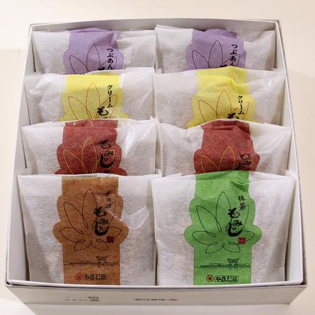 もみじファミリー8入 五種(こし・粒・クリーム・チョコ・抹茶)
